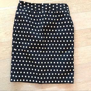 Banana Republic polka dot pencil skirt